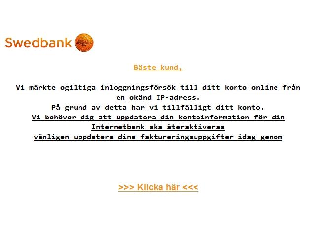 swedbank csn registrera konto