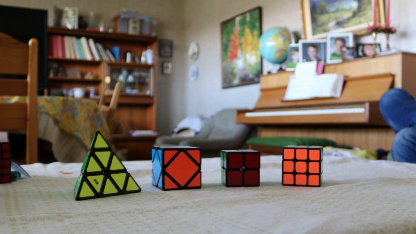 """Gnarp S-vägen, """"Pyraminx"""", """"Skewb"""", """"2x2"""" och """"Rubiks kub"""", 12 augusti 2017"""