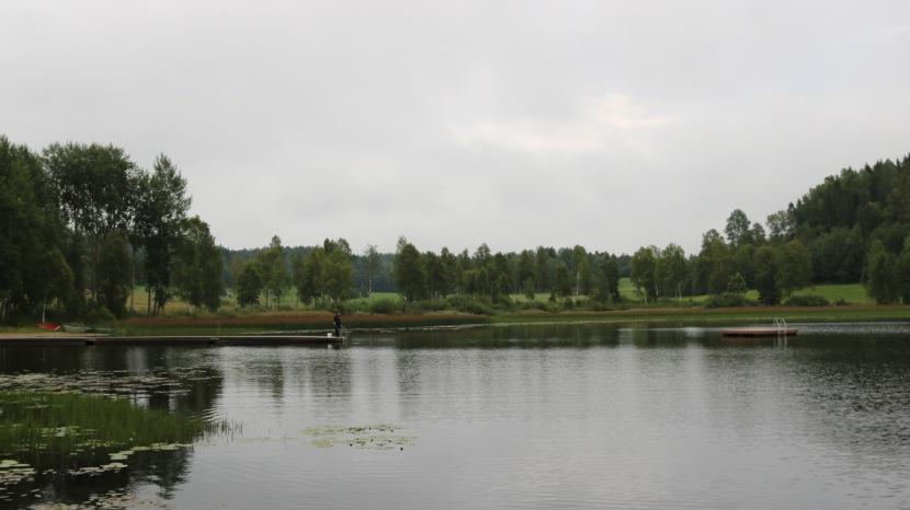 Jättendalssjön, fiske, 9 augusti 2017