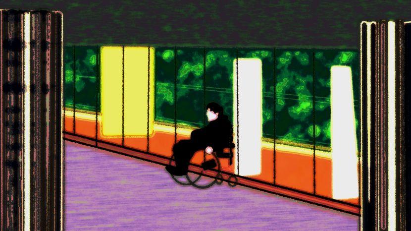 """Andra versionen av """"Snubbe i rullstol"""", 22 september 2017"""