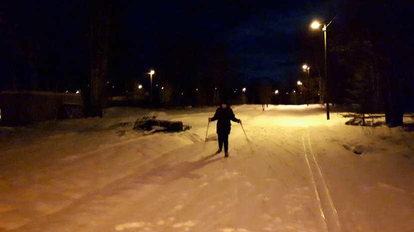 Gnarp, skidåkning, 2 januari 2018