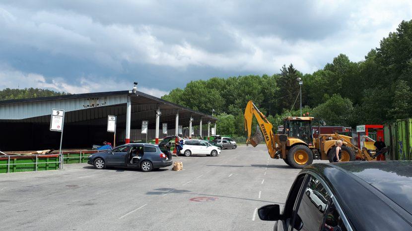 Huddinge Flemingsberg, SRV:s återvinningscentral, 11 juni 2018