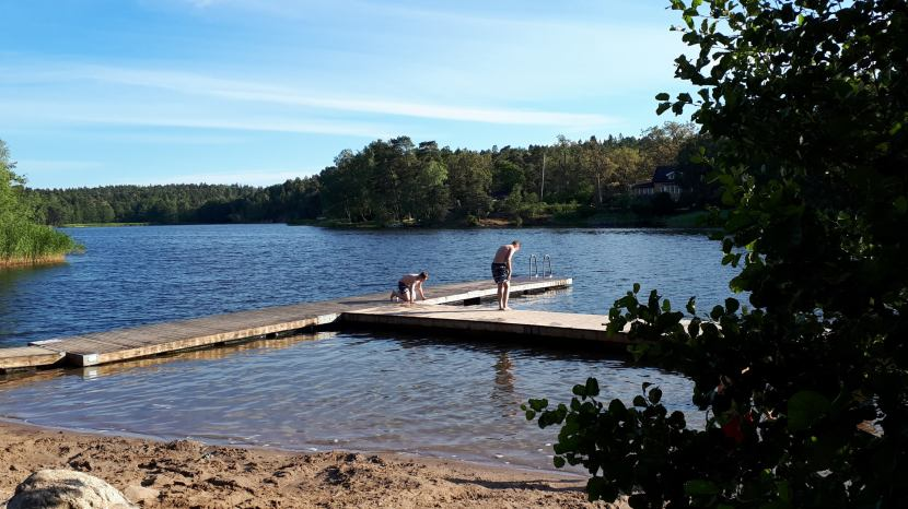 Nacka Sågsjön, bad, 5 juli 2018