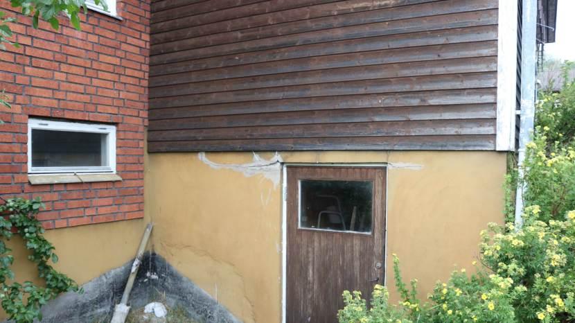 Gnarp S-vägen, spricka i betongen, 8 augusti 2018