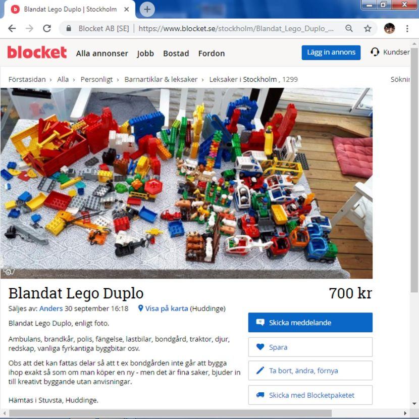 Från blocket.se,