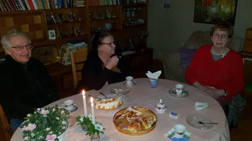 Gnarp S-vägen, mor M:s 81-årskalas, 7 februari 2019