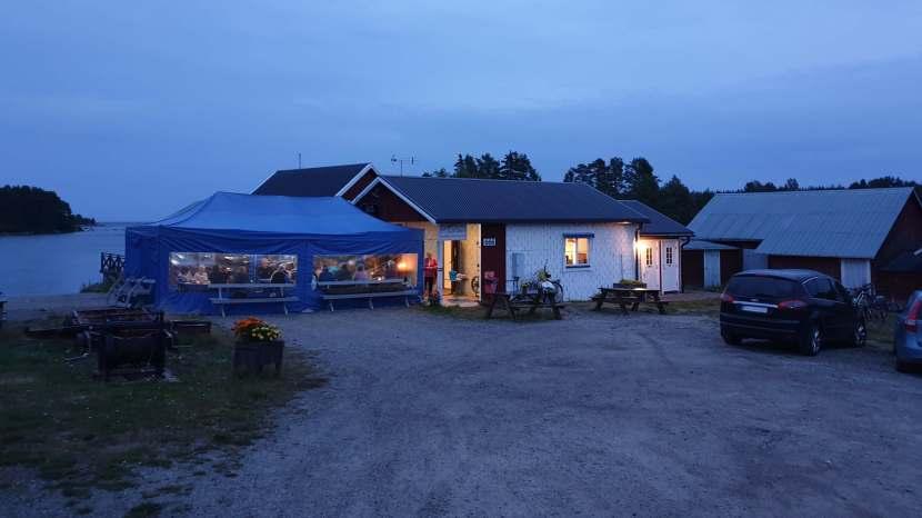 Gnarp Norrfjärden, hamnföreningens surströmmingsfest, 17 augusti 2019