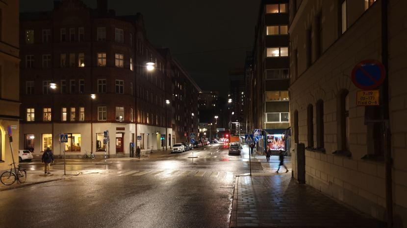 Stockholm, korsningen Roslagsgatan — Ingemarsgatan, 7 november 2019