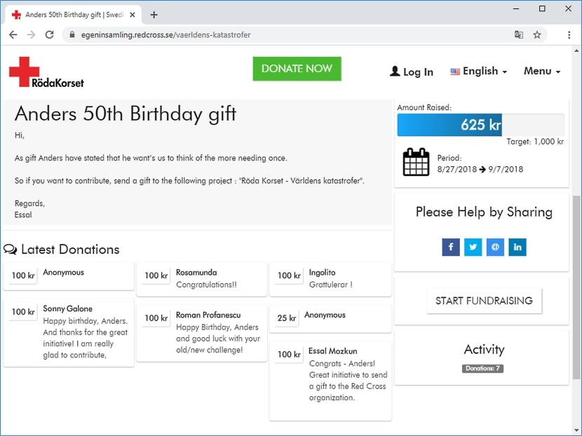 Från redcross.se, -50th birthday gift-, 10 januari 2020