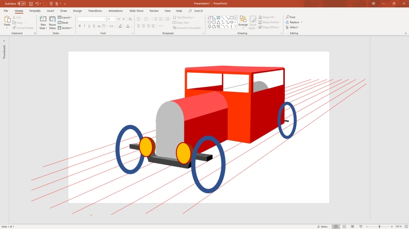 Hot rod-skiss ritad med Powerpoint, 10 februari 2020