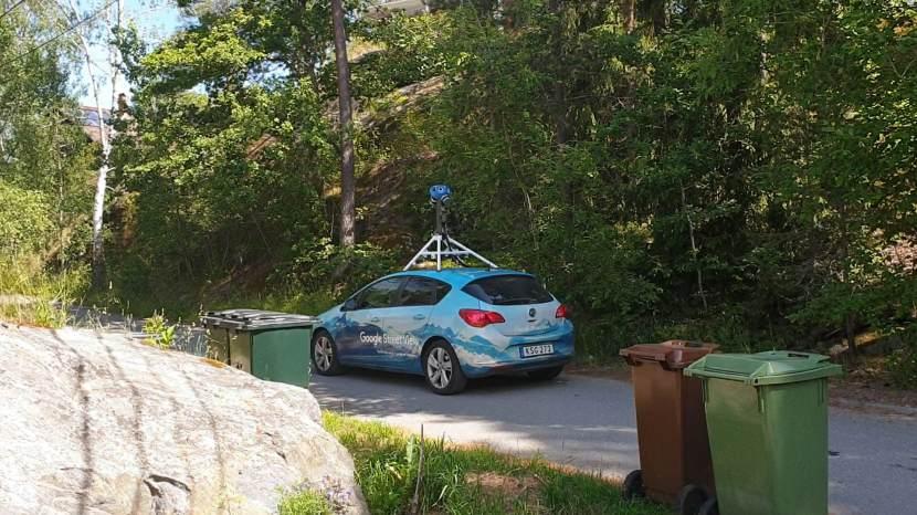Huddinge M-vägen, Google-bilen, 22 juni 2020