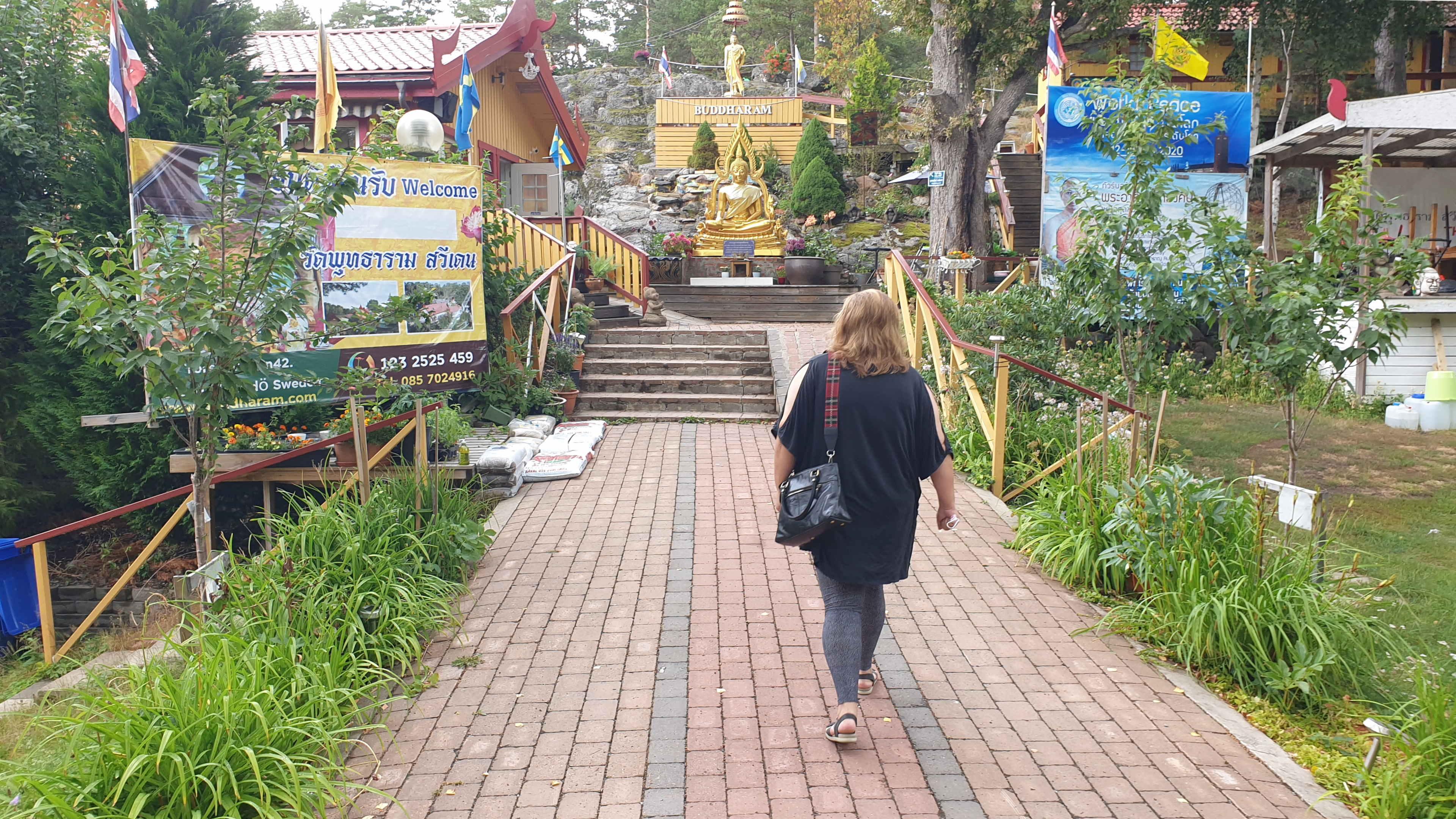 Värmdö, Buddharamatemplet, 30 juli 2021