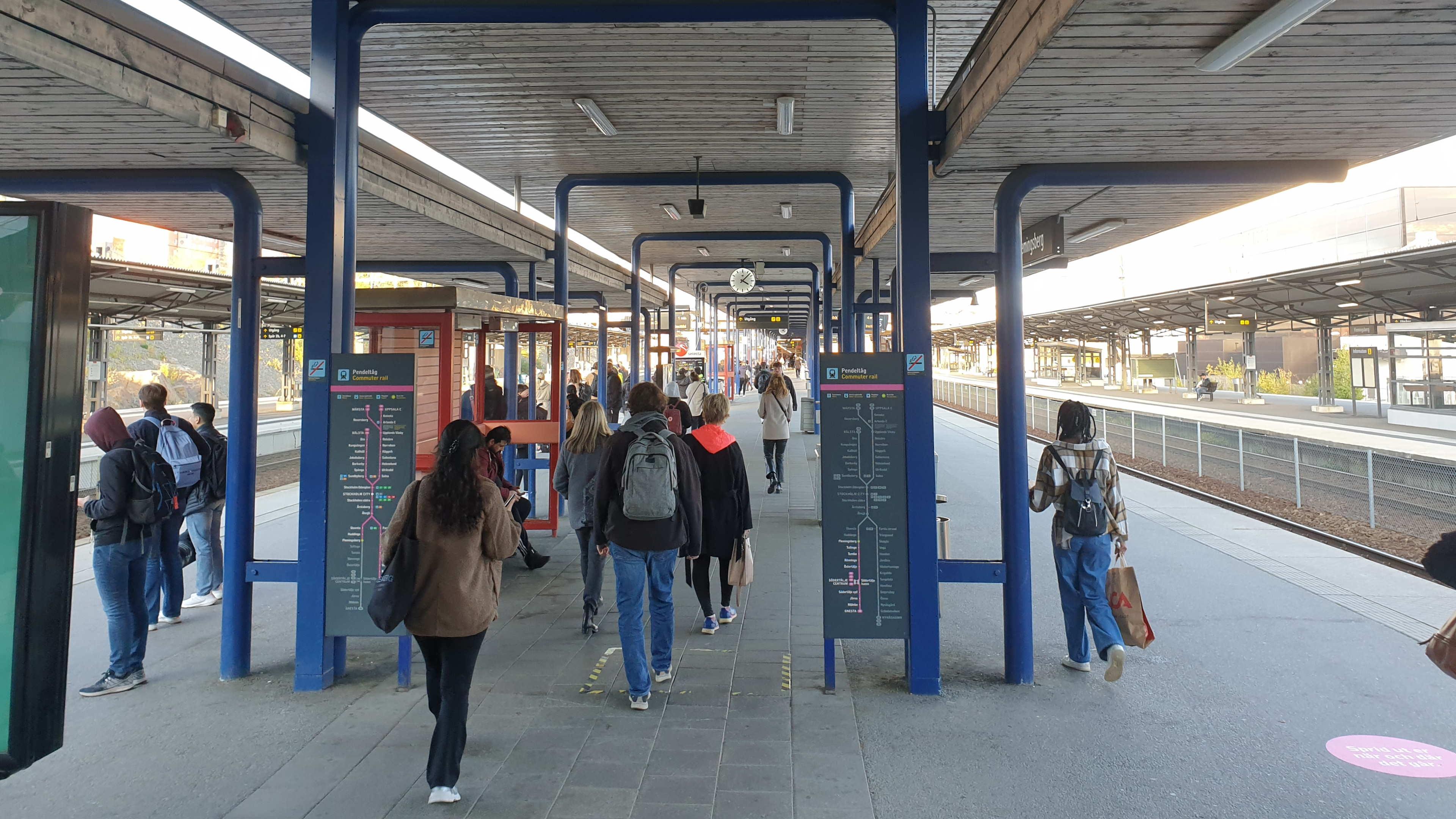 Huddinge, Flemingsbergs station, 13 oktober 2021